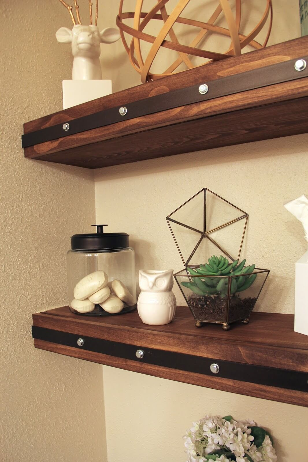 best diy floating shelf ideas and designs for homebnc design tures country studded beautifully stained corner argos vinyl floor tiles oak wall cubes wood mounted shelving modern