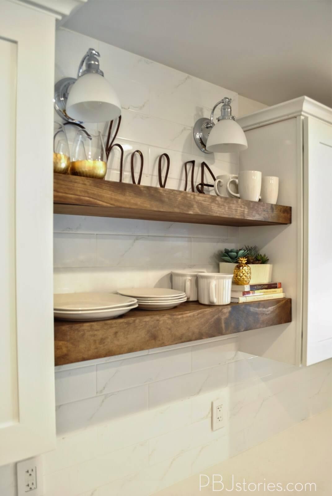 best diy floating shelf ideas and designs for homebnc kitchen shelves comfy breakfast nook display antique mantel key coat hanger small corner rack closet hacks black pins guitar