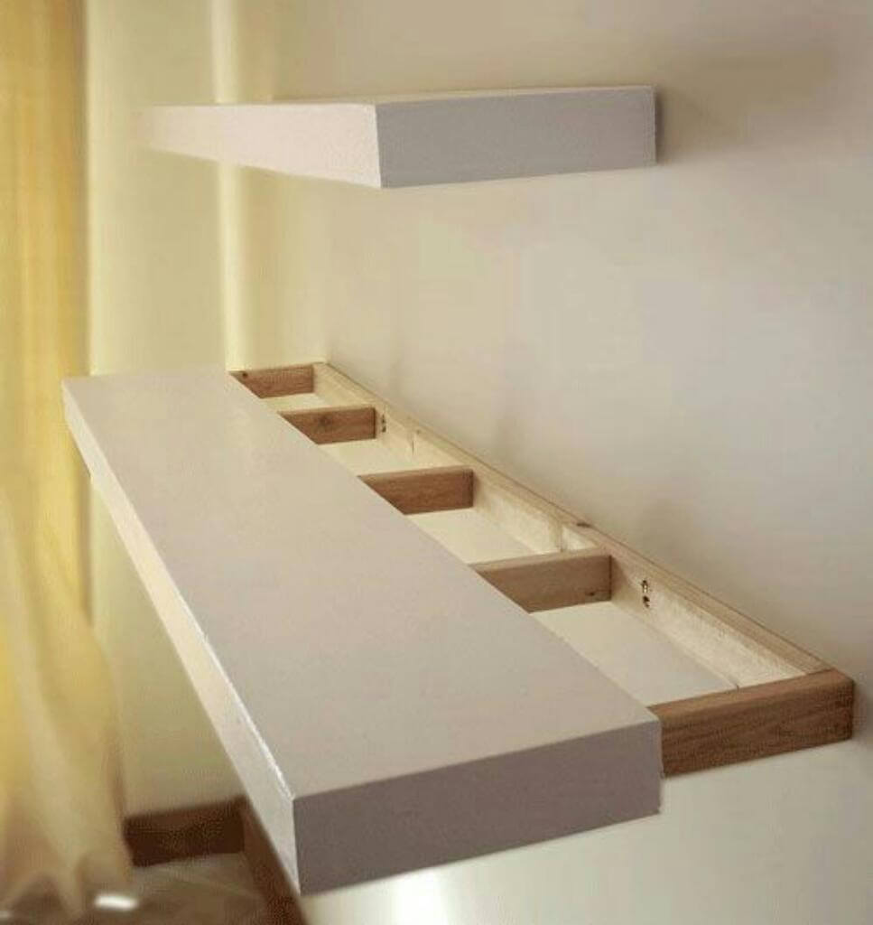 best diy floating shelf ideas and designs for homebnc white shelves with lights light wight ikea vinyl storage bookcase desk combo office furniture kitchen island cart seating