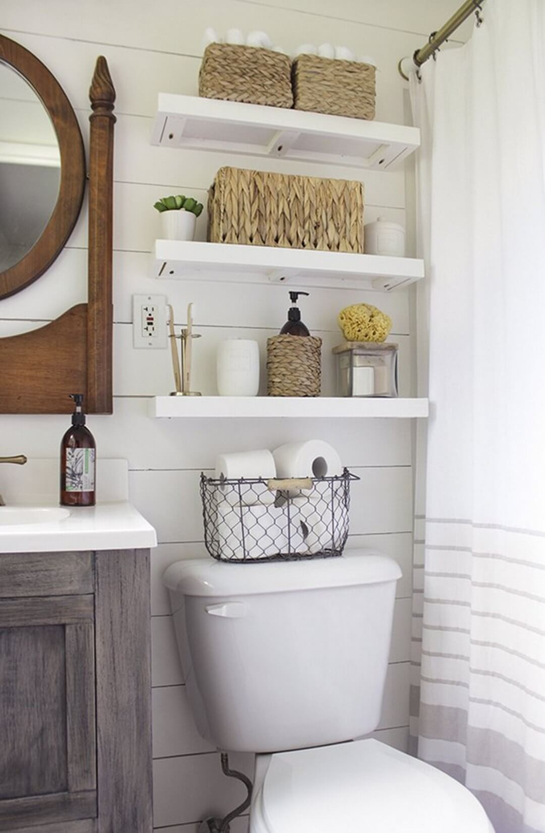 best over the toilet storage ideas and designs for homebnc floating shelves bathroom above airing cupboard homebase short wide shelf garage work shelving diy making ikea screw