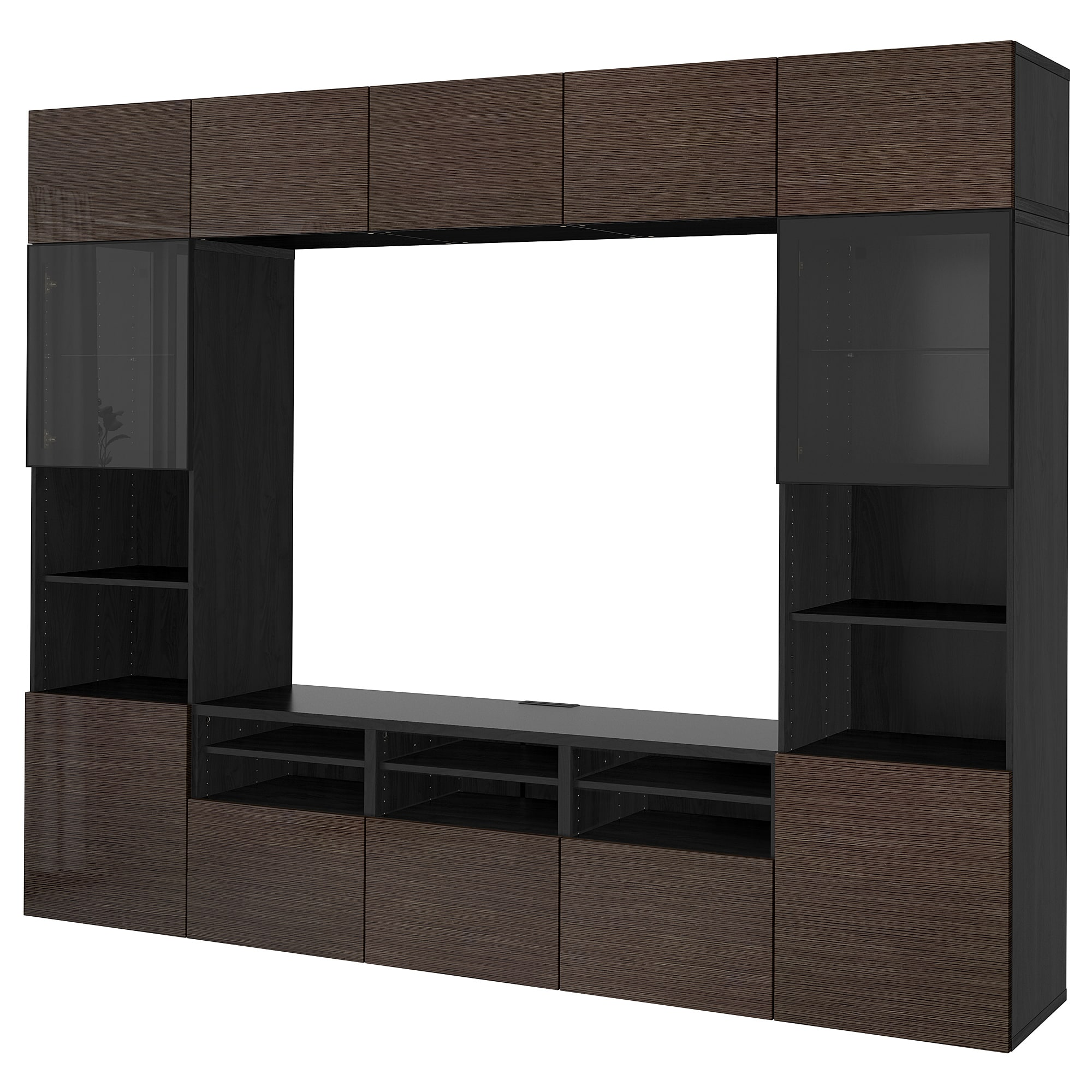 besta storage combination glass doors black brown selsviken floating drawer shelf high gloss white clear wall shelves media unit plugs narrow invisible clothes hanger the shaped