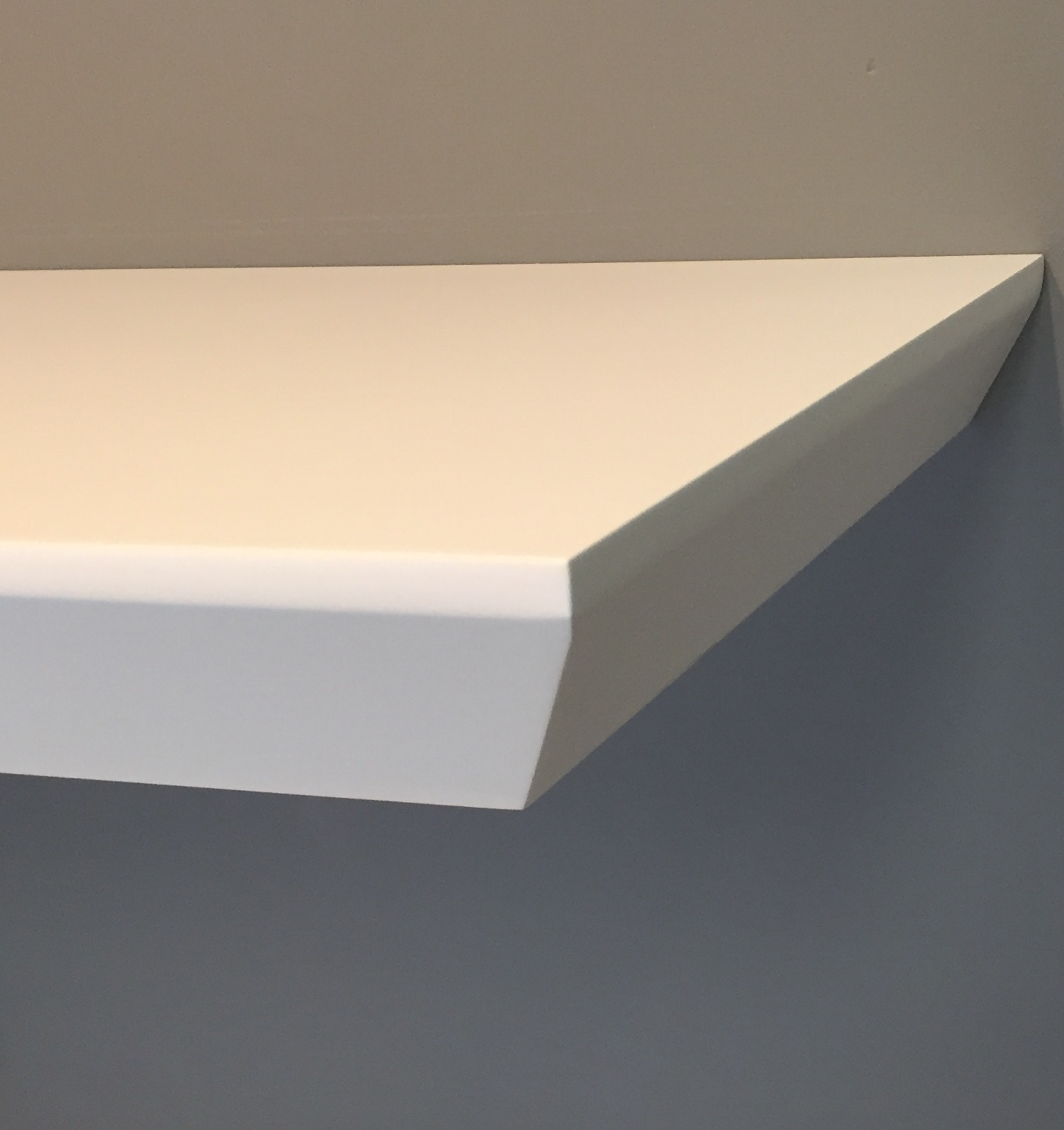 beveled edge floating shelf the shelving close thick white shelves vonhaus wall mount bracket office furniture computer table brackets height garage open make your own shoe rack