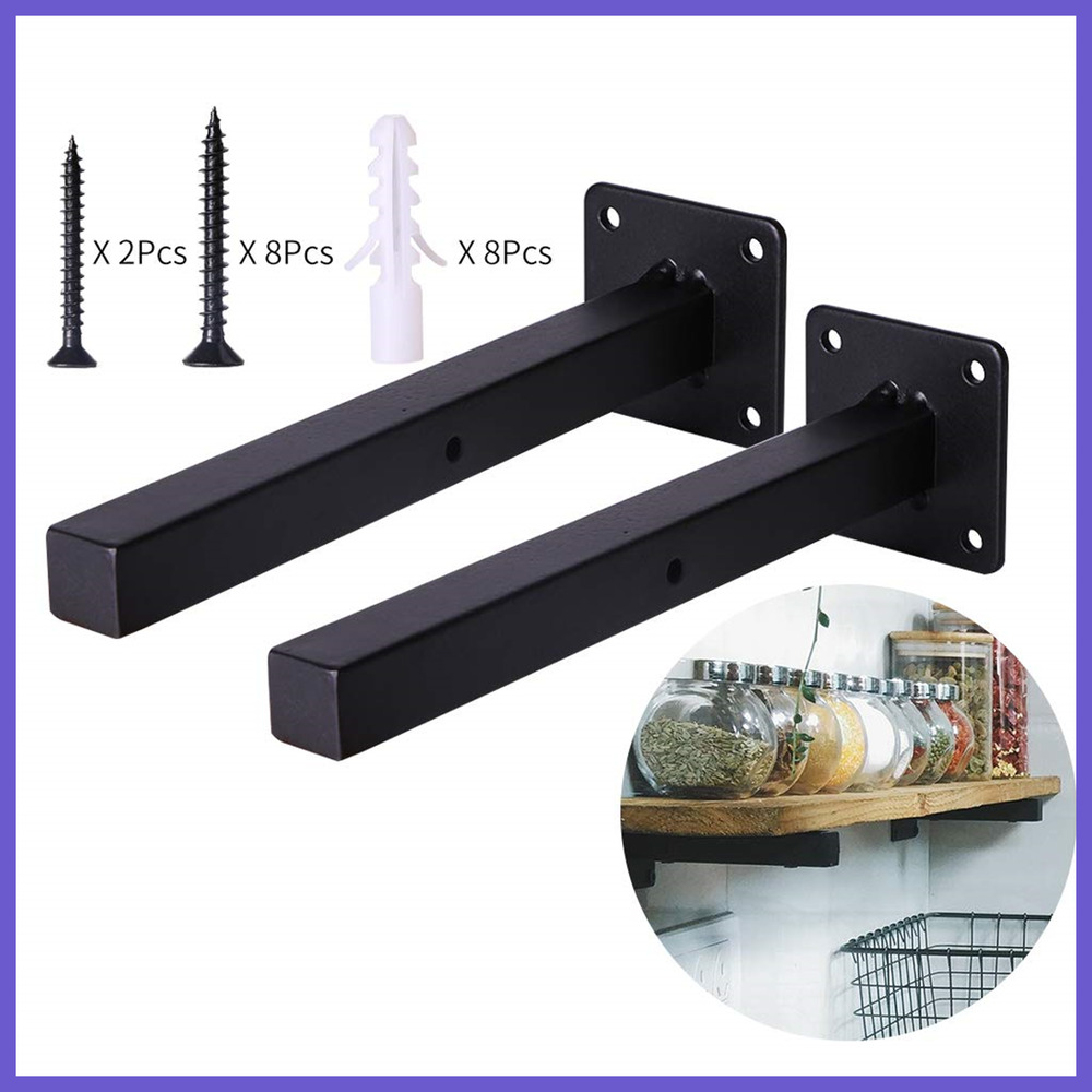 black floating shelf brackets heavy duty wall metal shelving details about supports mounted wooden design antique wood fireplace mantels what ledge rustic oak unit entertainment