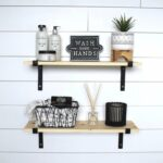 black metal bracket shelves floating open shelving etsy shelf box cream corner bookcase unit wall clear kitchen closet racks pottery barn bookshelf mounted storage cube victorian 150x150