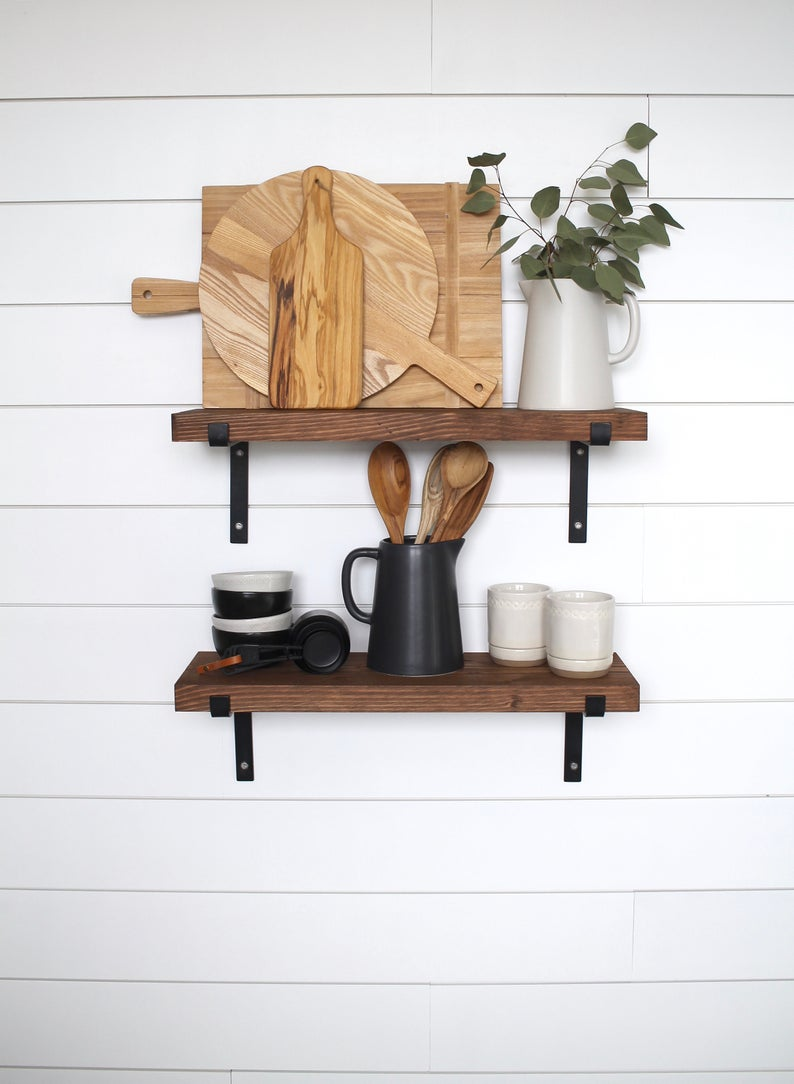 black metal bracket shelves floating open shelving etsy shelf brackets hanging wall nightstand ikea hack garage closets drawer filing cabinet cube storage kallax tall shoe rack