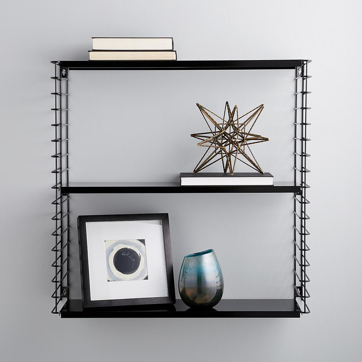 black metal libro wall shelf the container storage cube floating fold away desk white countertop ideas contemporary glass shelving unit standard walk closet size kitchen cabinets
