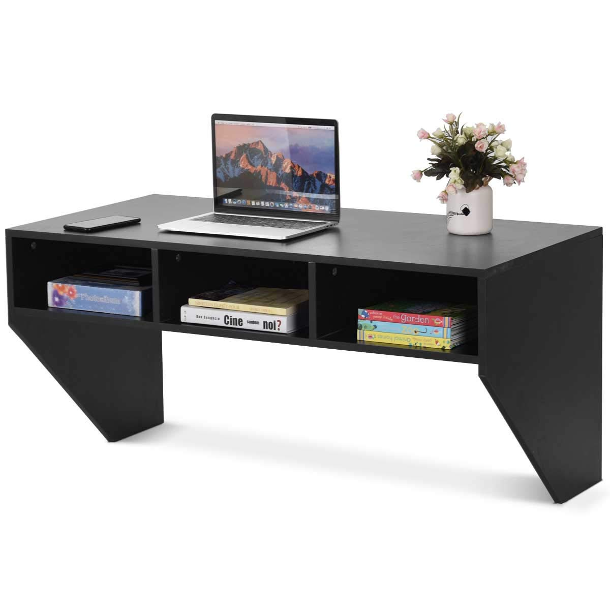 black wall mounted floating desk console shelf computer modern mount storage kitchen dining ikea box shelves white metal shelving unit portable island bar television component