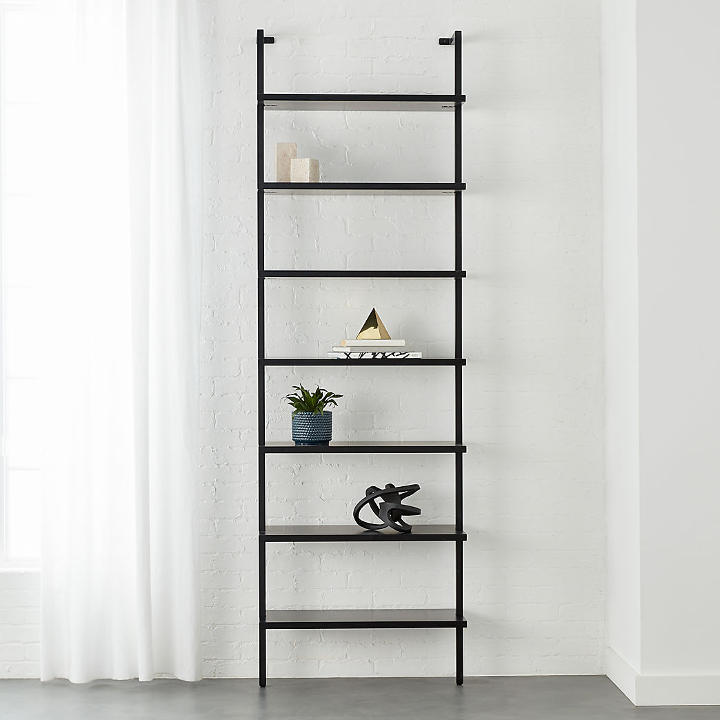 black wall shelves stairway mounted bookcase floating bookshelf garage storage racking shelving ikea ektorp slipcover tile edge trim screwfix rustic steel shelf brackets computer