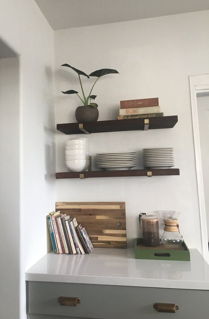 bracket for floating shelves house plans corner ikea coffee bar open shelving brass brackets garage organization systems small plastic shelf narrow computer table rectangle box