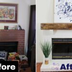 build diy faux rustic beam mantel floating shelf over fireplace woodworking budgetdecor bunnings cube storage small wall mount entertainment center corner wood invisible bookshelf 150x150