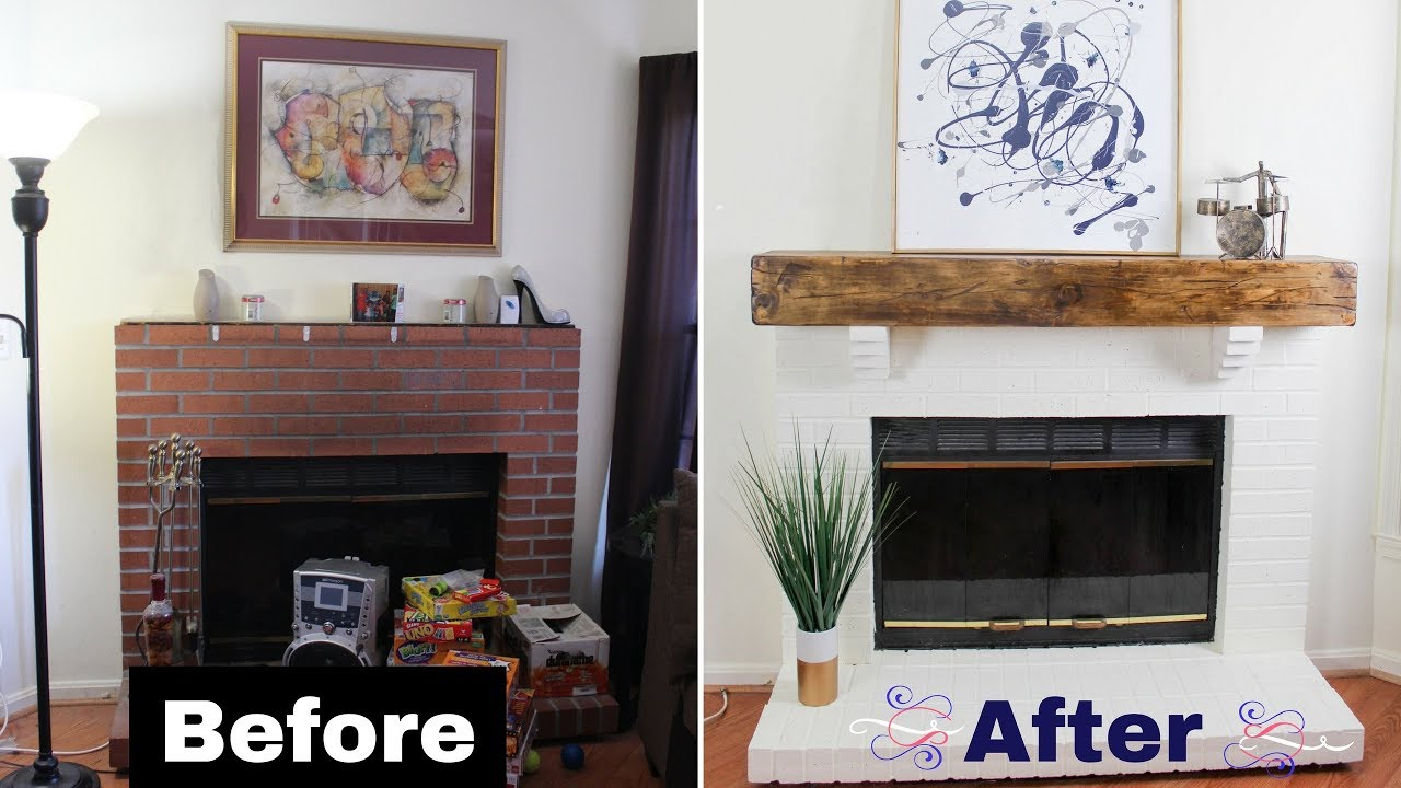 build diy faux rustic beam mantel floating shelf over fireplace woodworking budgetdecor bunnings cube storage small wall mount entertainment center corner wood invisible bookshelf