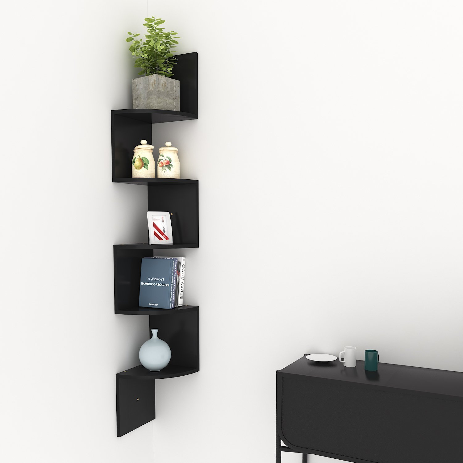 build floating corner shelves find chicago wall shelf get quotations kaluo tier mount modern display zig zag outdoor shelving unit black hanging entryway with bench timber cube