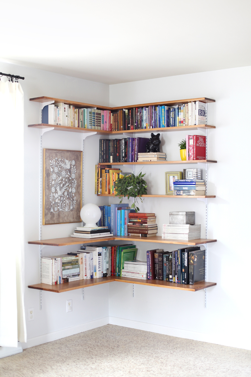 build organize corner shelving system beautiful mess extra large floating shelf custom closet units bedroom bookcase ideas heavy duty wood brackets wall hooks wickes systems white