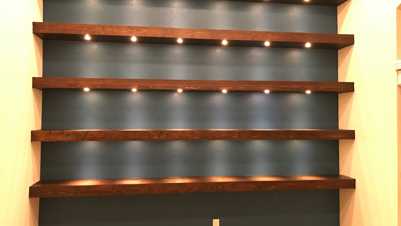 build wall shelves with recessed lights floating shelf gloss cube large wrought iron corner brackets white high metal command hooks custom made method daily shower bathroom