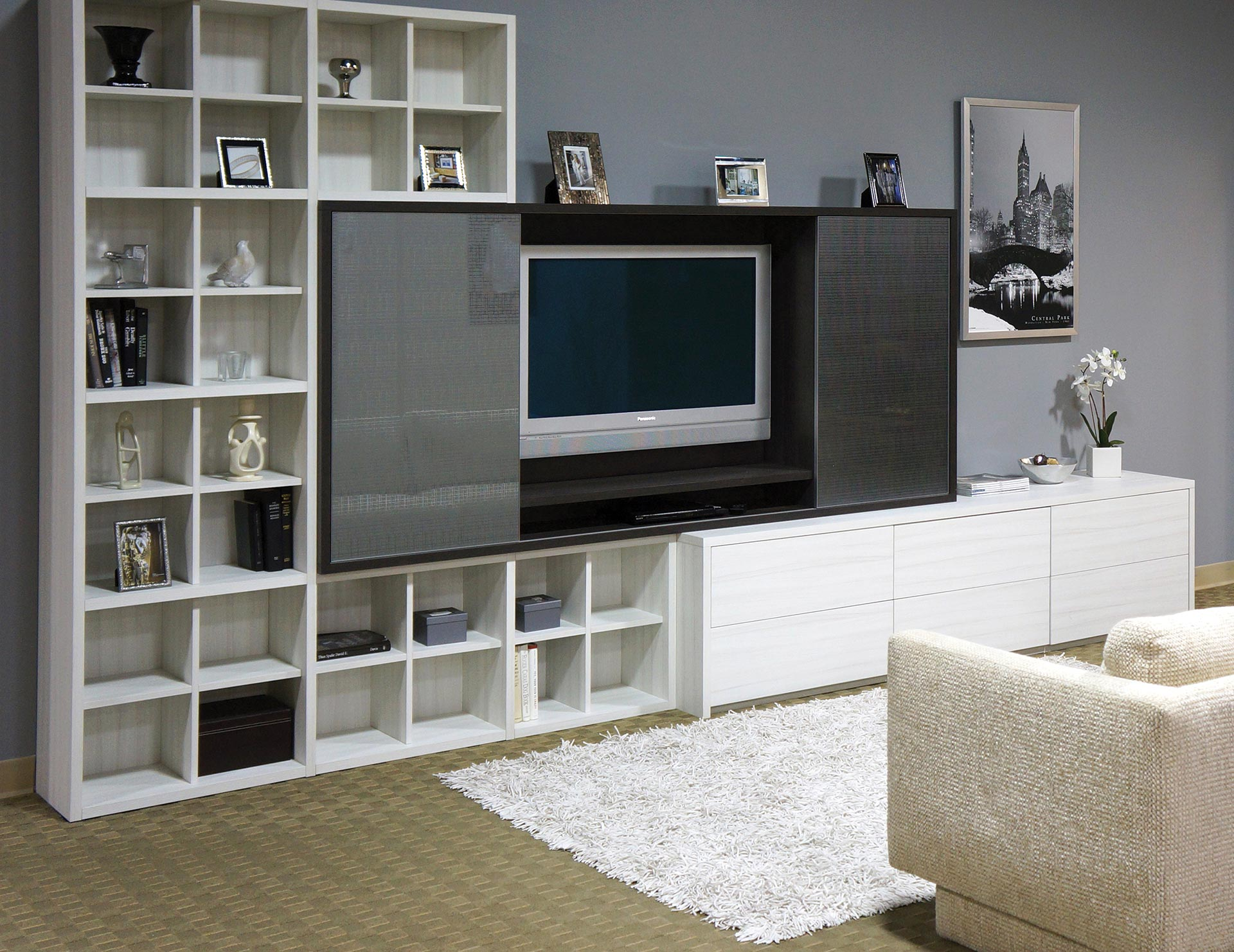 built entertainment centers media cabinets closets center tesoro tuscan moon lago venetian wenge celsius bronze glass doors gllry floating shelves for black and white wood grain