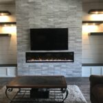 built storage benches with offset floating shelves centered fireplace wall around modern shelf record player command strips small mirror cleats canadian tire heavy duty shelving 150x150