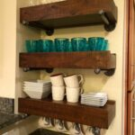 check out this awesome from happy customer they used our pottery barn floating shelf brackets straight industrial pipe along with their shelves don look great together granite 150x150
