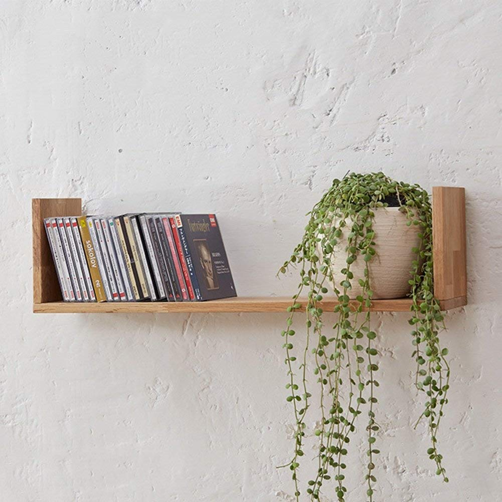 cherry floating wall shelves find shelf get quotations qianda storage display bookshelf mounted wooden bookrack flower with command strips steel cabinet clips hanging kitchen