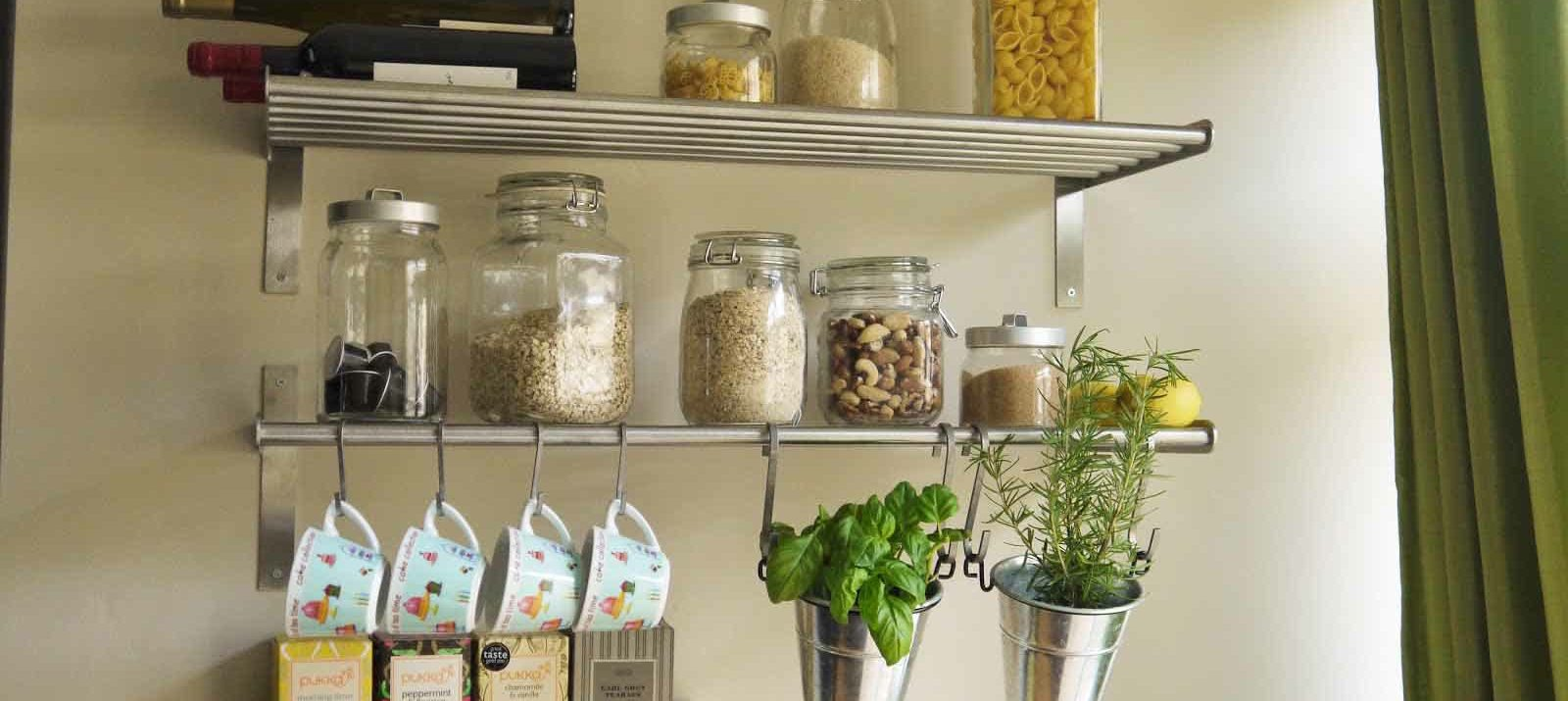 clever and easy kitchen organization ideas you love floating shelves for storage removable hooks brick walls white wall shelving unit single cube float design canadian tire london