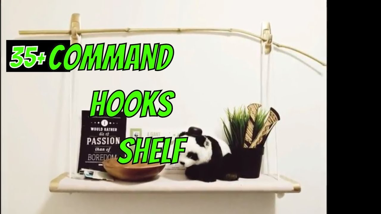 command hooks shelf floating shelves using strips standard bookshelf spacing ikea white table pottery barn kids boat hanging corner kmart bedside garage shelving small dvd
