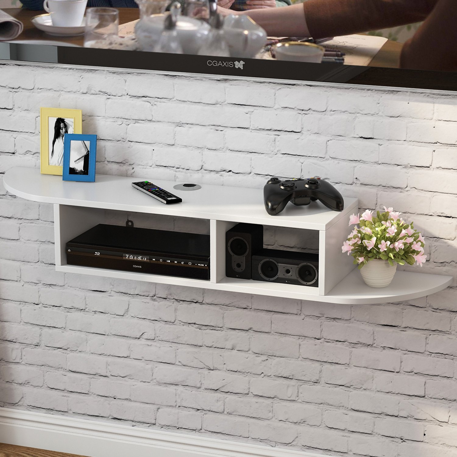 consoles modern find line floating shelves for game get quotations little tree wall mount shelf tier storage rack dvd industrial pipe shelving kit best subfloor vinyl flooring
