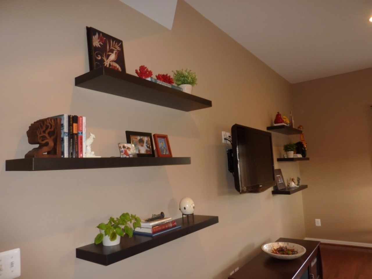 contemporary floating shelves furniture ideas that act pleasing large espresso around wall mounted expedit bookshelf small glass mount best garage rack system shelf brackets