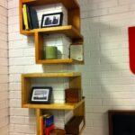 corner bookshelf ikea with wall design and wooden material also floating shelf unit white brick walls for modern interior home peel stick installation reclaimed pine shelves 150x150