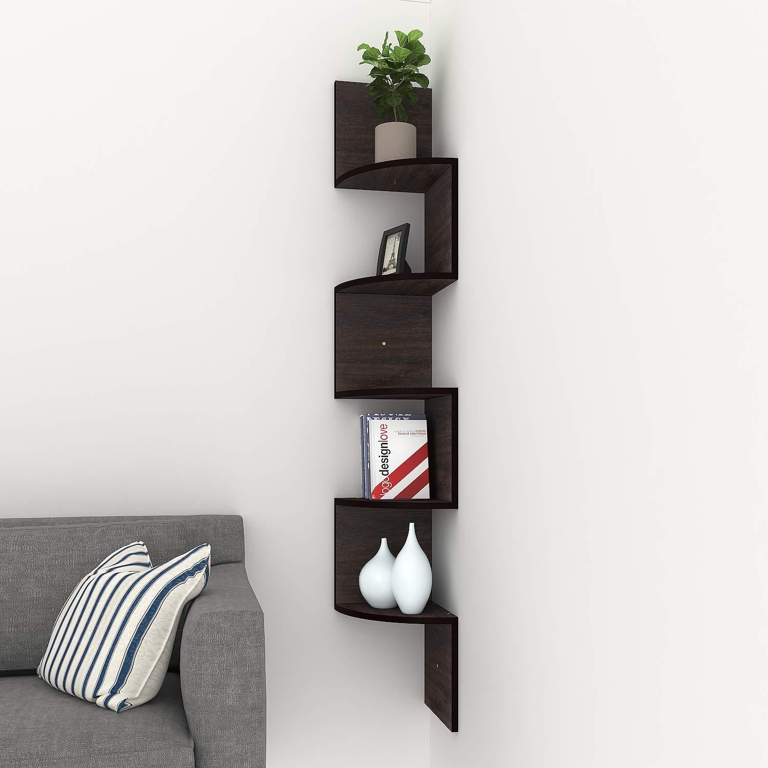 corner floating shelves modern tier mount home decor display shelf uzgtyrgl inch installing stick vinyl tiles bunnings shelving small wood brackets clean white porcelain sink