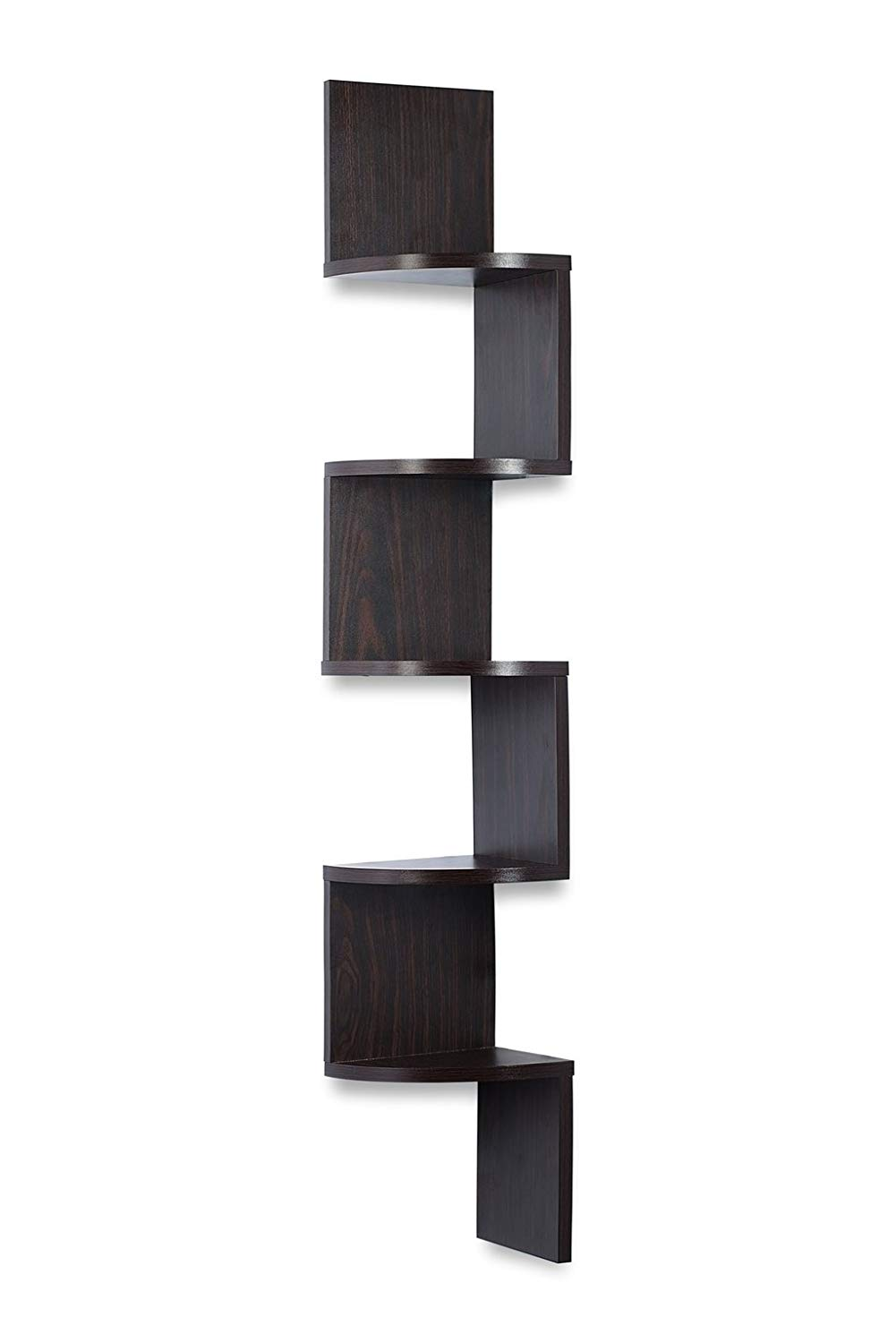 corner shelf espresso finish unit extra large floating tier shelves can used for bookshelf any decor sagler home rack books designs free sink cool diy adirondack bar stools black