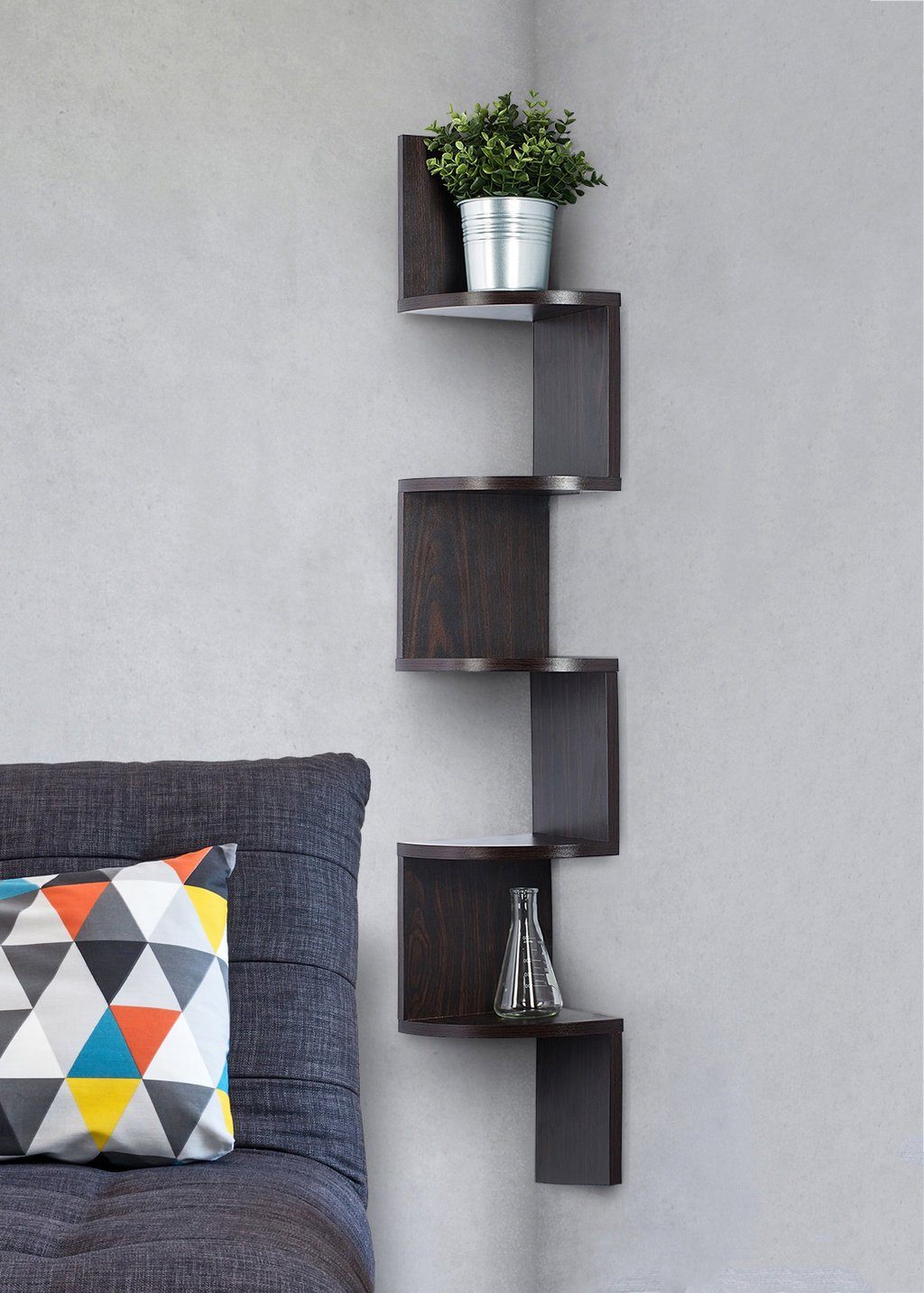 corner shelf espresso finish unit tier shelves can used for bookshelf any decor sagler inch floating bunnings shelving tures kitchens with open command strips weight capacity