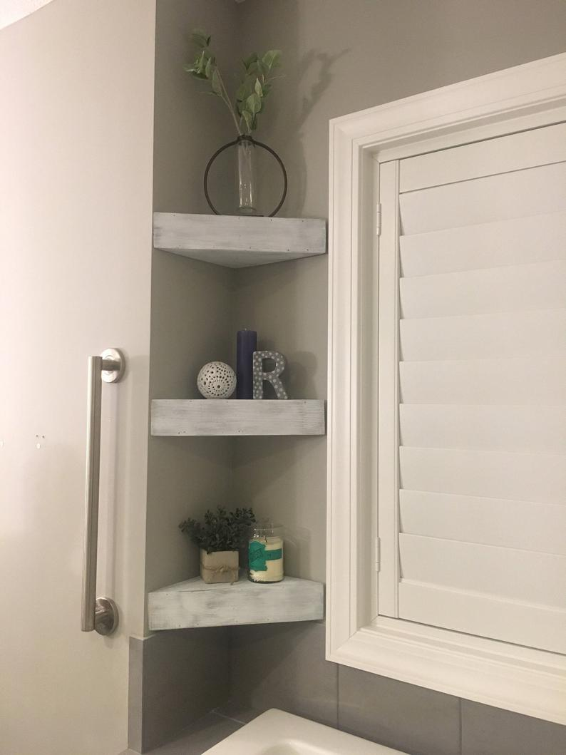 corner shelves floating farmhouse decor home etsy bathroom storage hutch ikea frosted glass shelf diy ideas for clothes white brackets wood closet solutions small spaces iphone