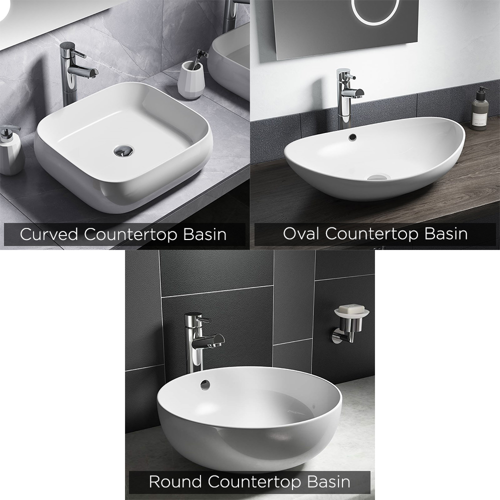 countertop basin and gloss white floating shelf tap basins second option book shelving brackets large mobile kitchen island black glass solutions closet systems microwave bunnings
