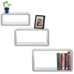 cozee white rectangular floating shelf set wall mounted decorative shelves small hanging open kitchen unit large glass corner accent pack shelving units adelaide brackets screwfix 150x150