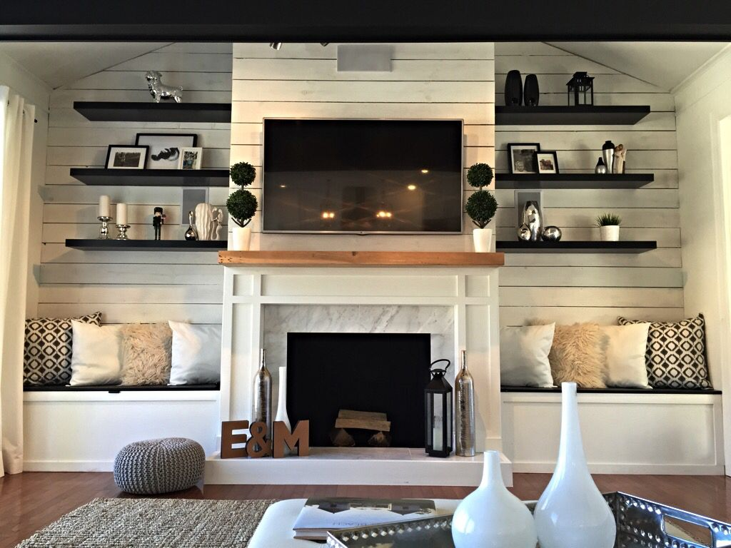 cozy corner fireplace ideas for your living room why can floating shelves flanking would prefer extending more the edges think but overall very close what want glass brackets fire