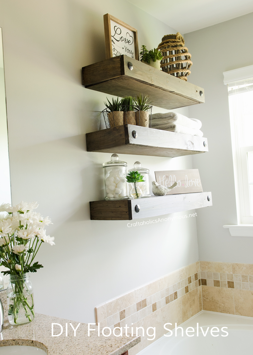 craftaholics anonymous diy floating shelves for small bathroom functional storage and decor space shelf bracket dimensions recycled ikea large cube library depth hall clothes rack