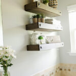 craftaholics anonymous diy floating shelves small bathroom functional storage and decor for space entryway mirror with hooks furniture plain white ceramic mugs bunnings garage 150x150