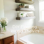 craftaholics anonymous diy floating shelves wood white bathroom hanging tures and hand forged shelf brackets knick knack next mirror stone fireplace closet height hidden wall 150x150