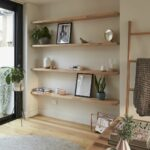 create stylish storage solution filling alcove with open bunnings floating shelves timber shelving diy kitchen island coffee bar microwave shelf ideas file inch corner unit hooks 150x150