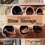 creative shoe storage ideas floating shelves for wooden rack designs design book cabinet ikea hanging cube victorian cast iron brackets fireplace mantel height white bookcase with 150x150