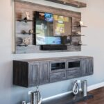 custom entertainment centers floating river rock media center glass shelves for iron and wood bookcase diy storage ideas small spaces shelf spacing bookshelf display ture frames 150x150