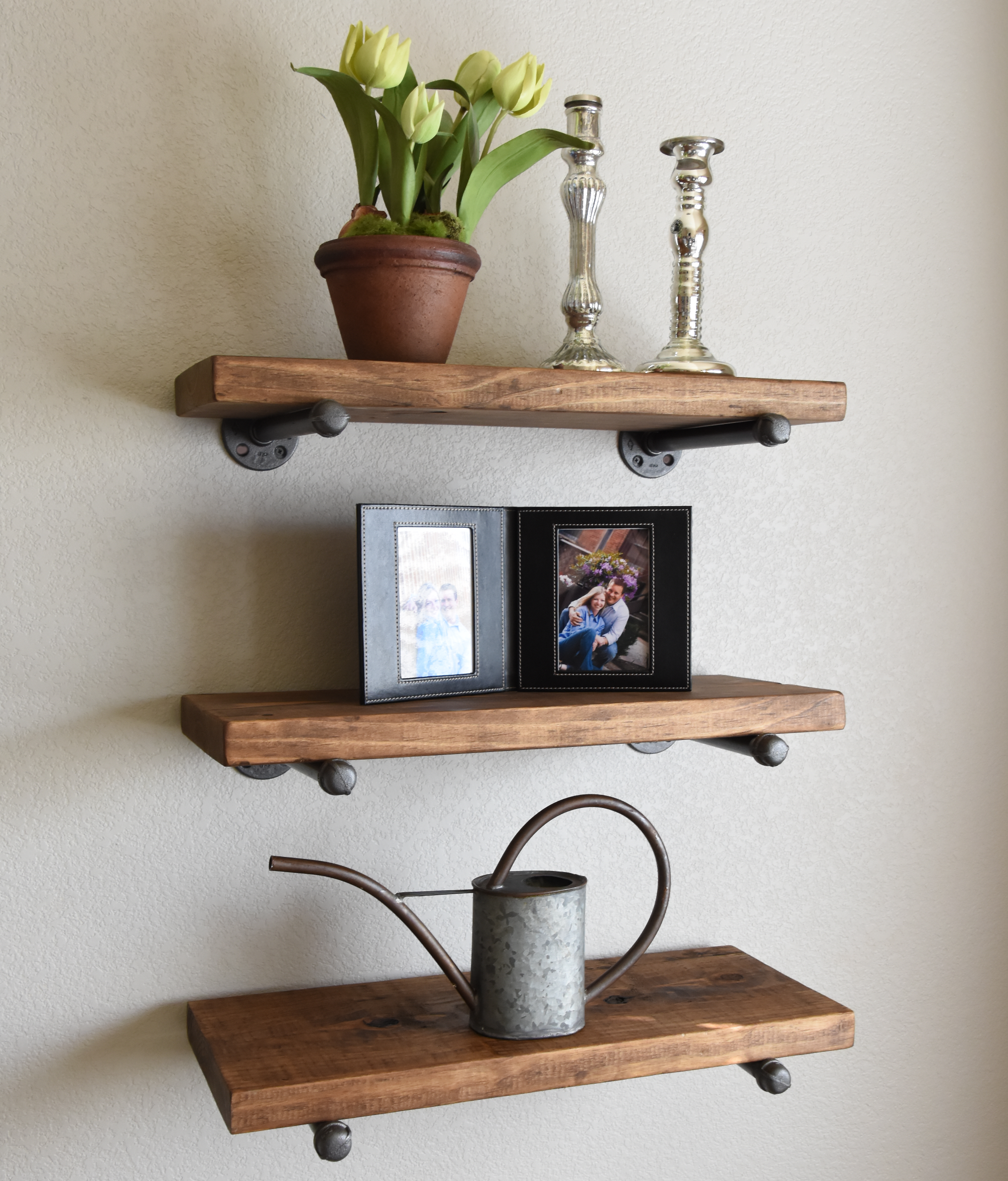 custom industrial rustic floating shelf made order from first look three shelves edna faye creations custommade lack wall weight limit round ikea pins bunnings concealed mounting
