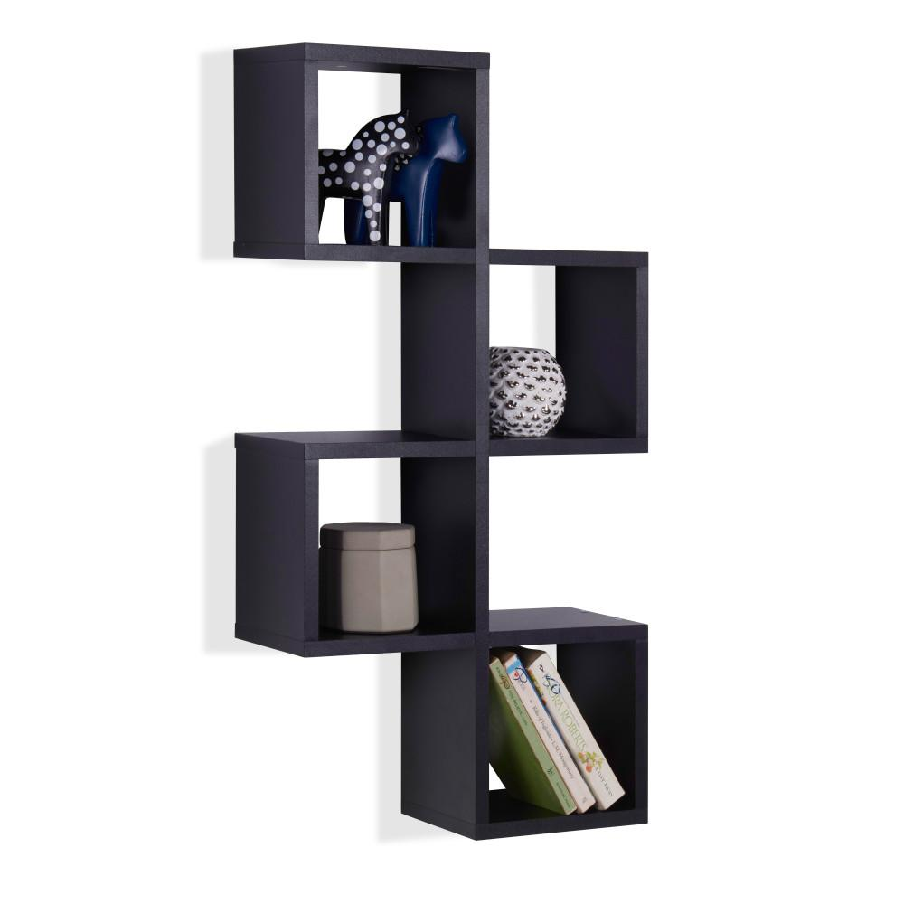 danya black mdf cubby chessboard floating wall shelf decorative shelving accessories oak cube shelves radiator corner ideas command adhesive narrow unit white diy hidden cabinet