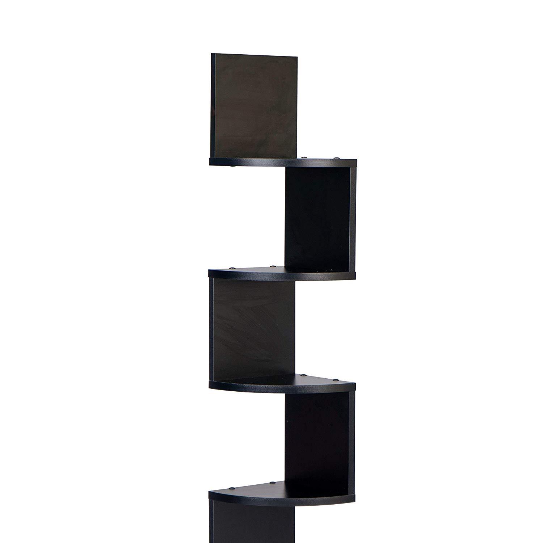 danya large decorative tier corner floating shelf unit wall mount display shelving black home kitchen tub shower combo book rack design ideas what elastilon installation clock