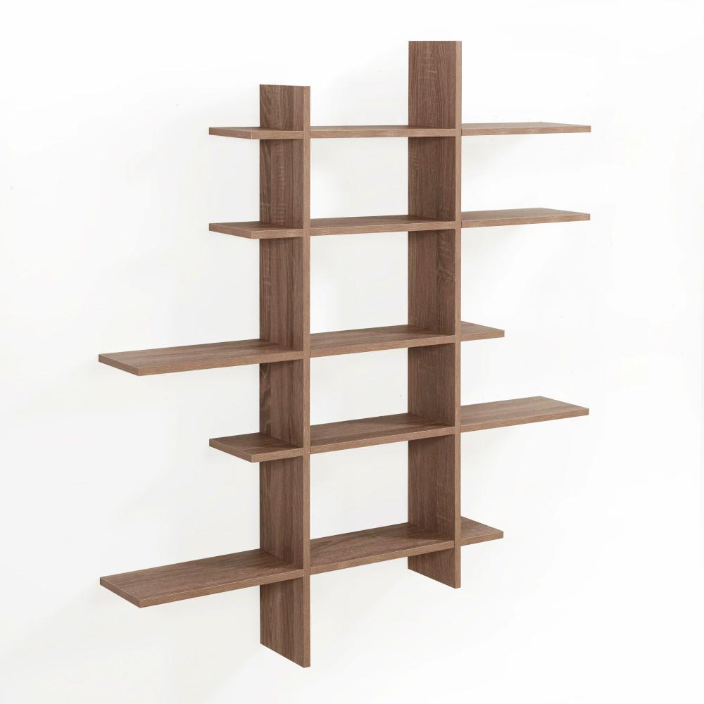 danya weathered oak mdf level asymmetric floating shelf beige decorative shelving accessories cube shelves the natural wood ture ledge two desk bathroom countertop unit free