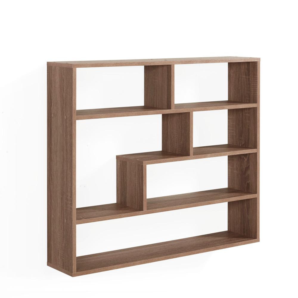 danya wheathered oak mdf large rectangular floating shelf unit beige decorative shelving accessories cubes the wardrobe storage closet inch glass wall display cube timber shelves