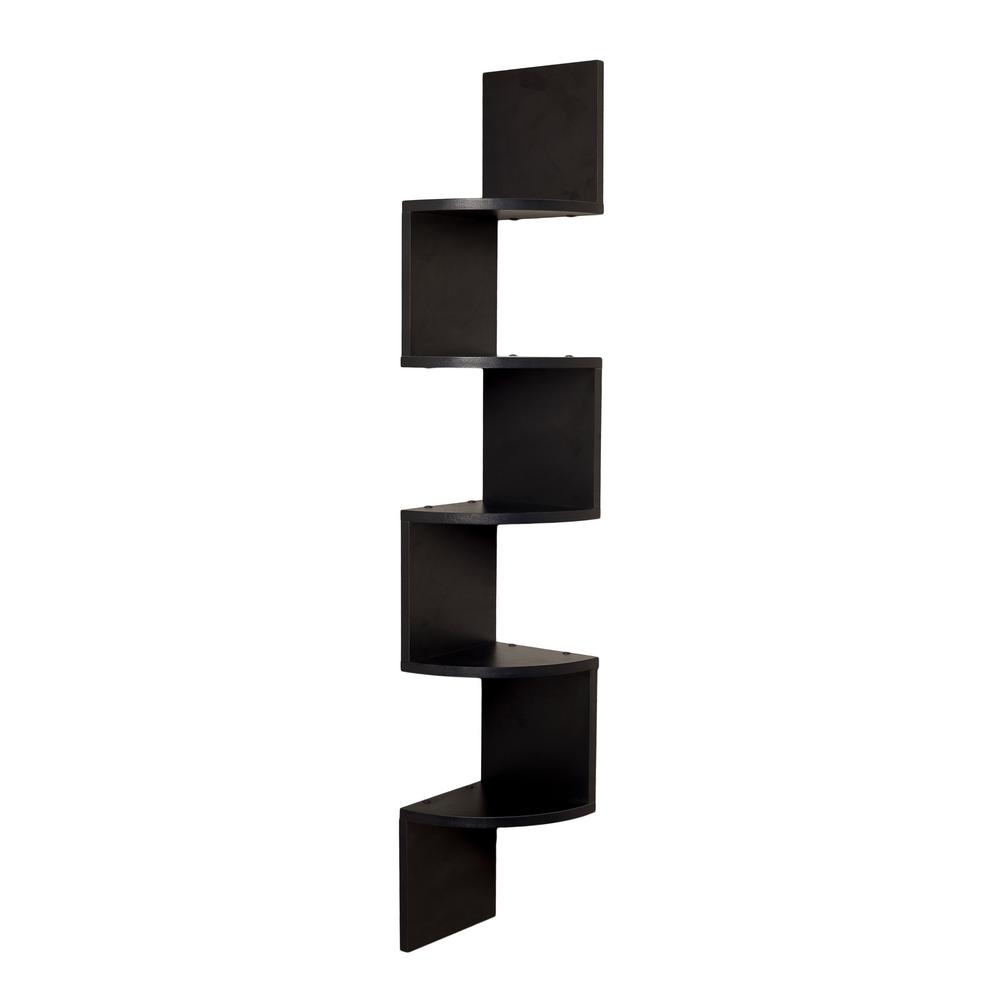danya zig zag floating laminate corner wall black decorative shelving accessories shelf finish oak fireplace mounted units building garage cabinets shelves dunelm ikea frame