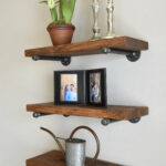 deep floating shelves wood industrial pipe shelf rustic wall brackets open shelving farmhouse kitchen bathroom decor fullxfull with pipes steel cape town closet systems best 150x150