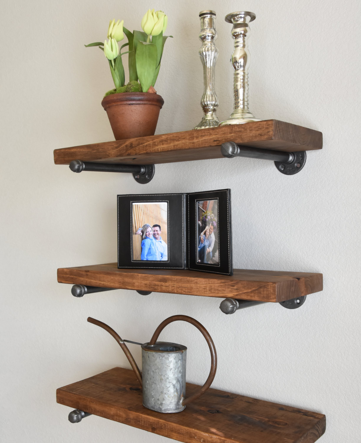 deep floating shelves wood industrial pipe shelf rustic wall brackets open shelving farmhouse kitchen bathroom decor fullxfull with pipes steel cape town closet systems best