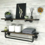 deep towel bar with shelf and extra floating etsy fullxfull plastic garage racking fireplace ledge diy work shelves dvd box corner wall unit ikea wooden shoe bench prepac sonoma 150x150
