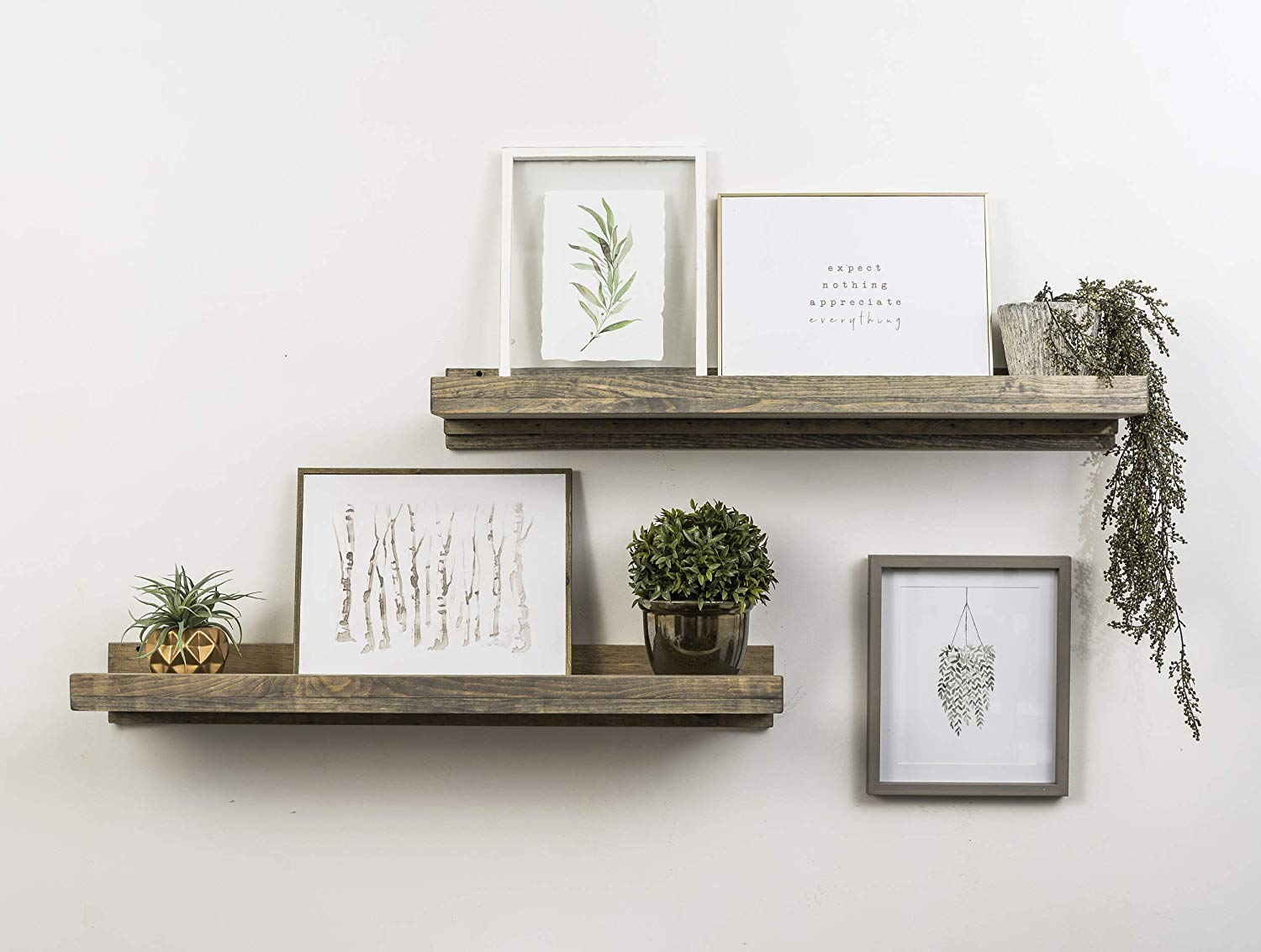 del hutson designs rustic luxe wooden floating shelves grey wood home kitchen argos coat hooks with shelf ture ledge above cute ideas adjustable bookshelf brackets small island